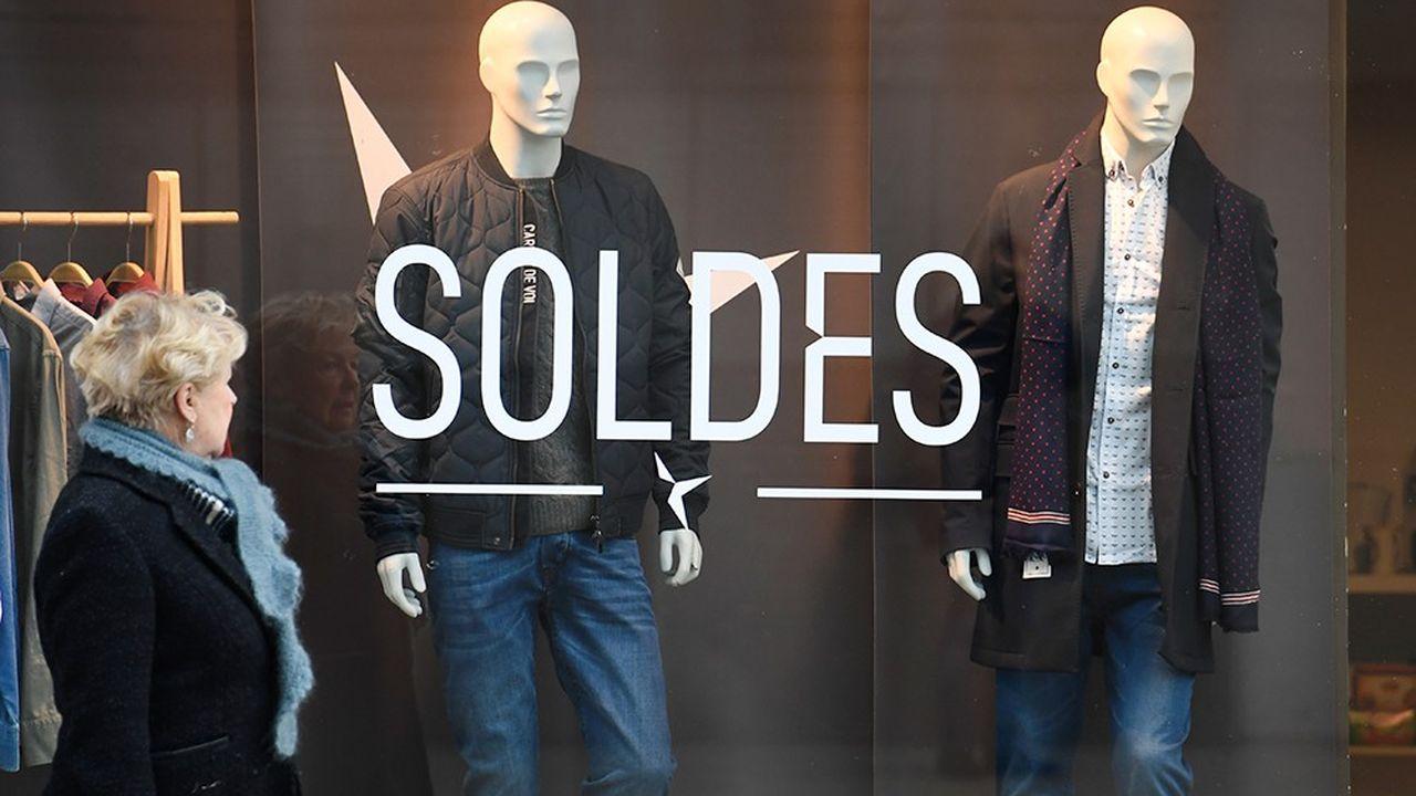 Les soldes d'hiver n'ont pas bien démarrépour les commerçants indépendants dans l'habillement.