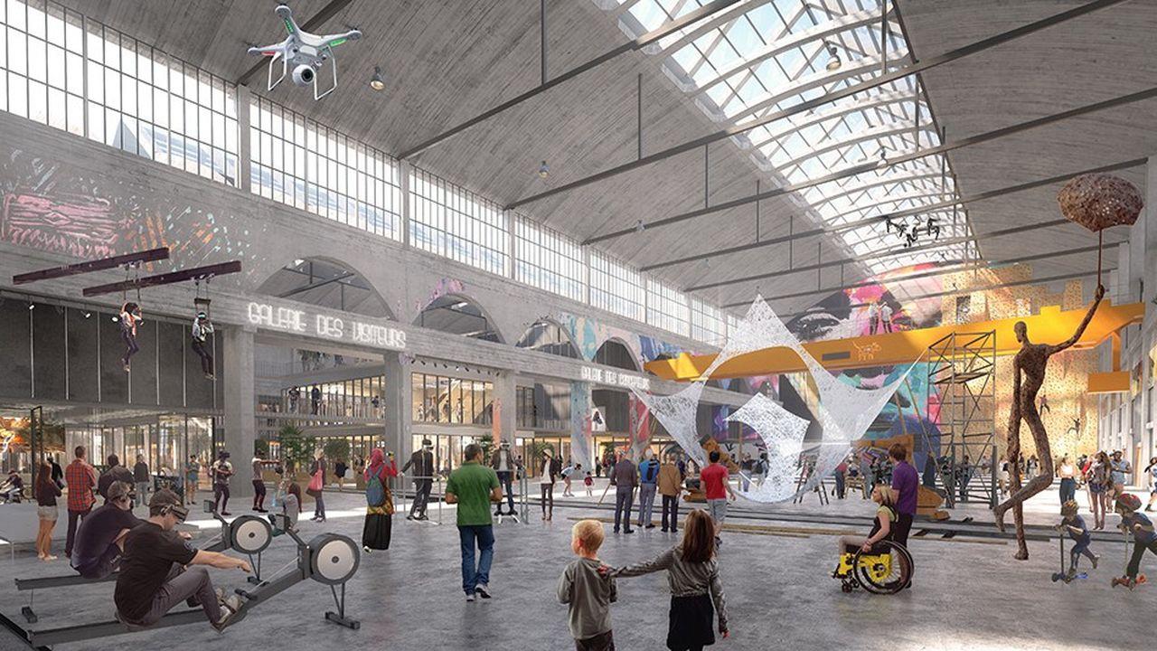 La grande halle SNCF qui abrite aujourd'hui un technicentre sera modernisée