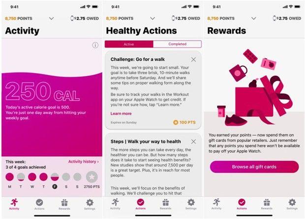 Capture d'écran de l'application Attain.