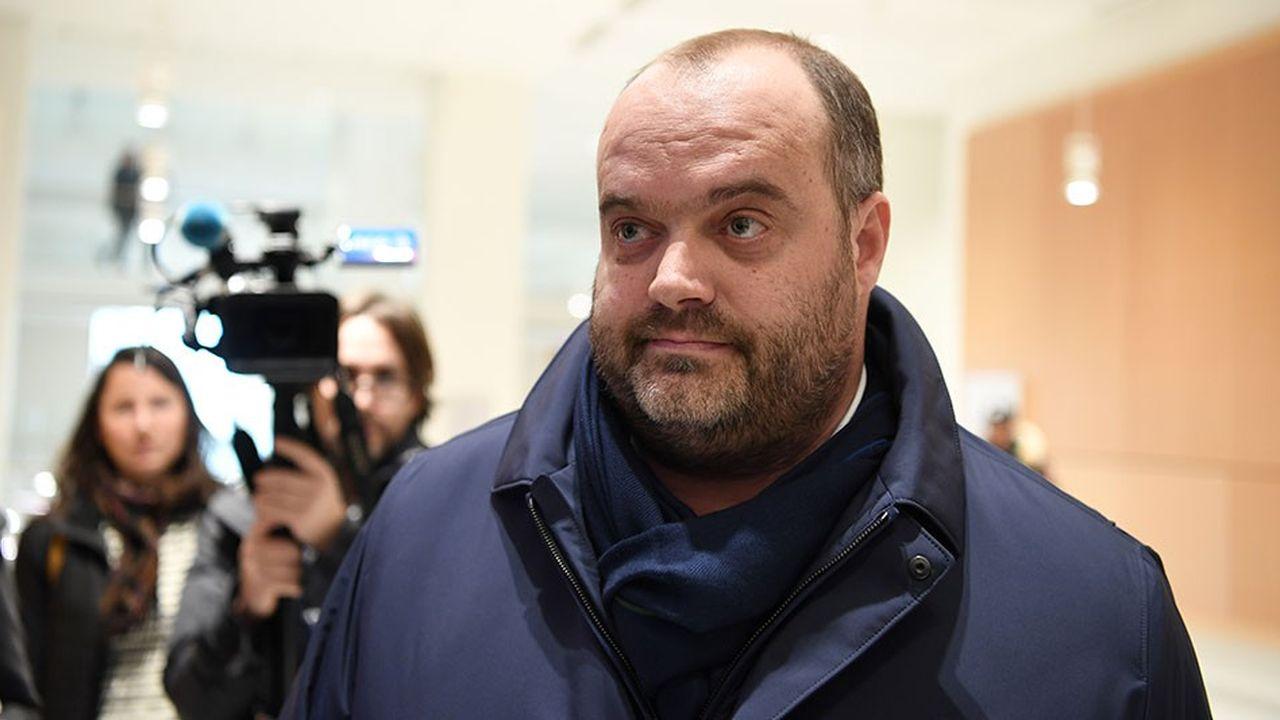 L'ancien directeur général de Spanghero Jacques Poujol, à son arrivée au tribunal de grande instance de Paris. Avec trois autres prévenus il est renvoyé pour tromperie et escroquerie en bande organisée.