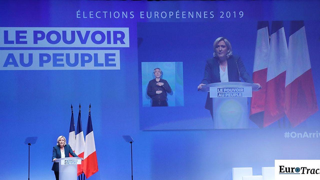 Le Rassemblement national a déjà lancé sa campagne des élections européennes. Il arrive en tête, avec 22% des intentions de vote dans notre sondage EuroTrack OpinionWay-Tilder, juste devant La République En marche, qui obtient 20% des intentions de vote.