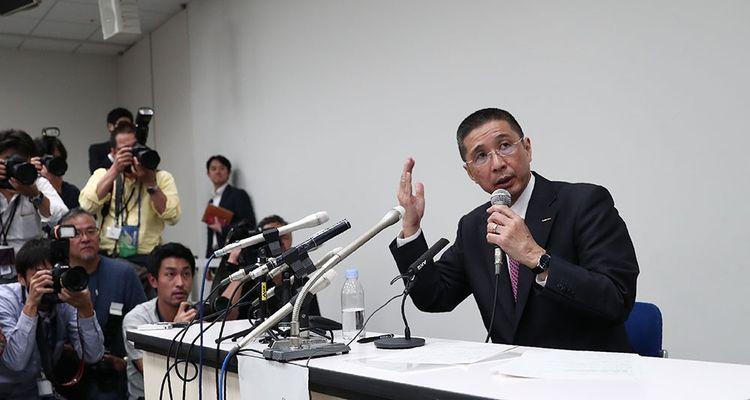 Hiroto Saikawa a vertement dénoncé les «travers du règne» de Carlos Ghosn lors d'une conférence de presse peu après l'arrestation du président du conseil de Nissan