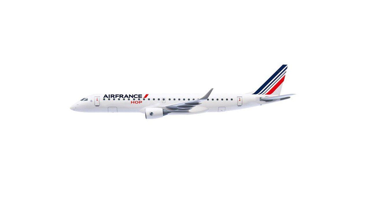 La nouvelle livrée des avions HOP! met en avant la marque Air France.
