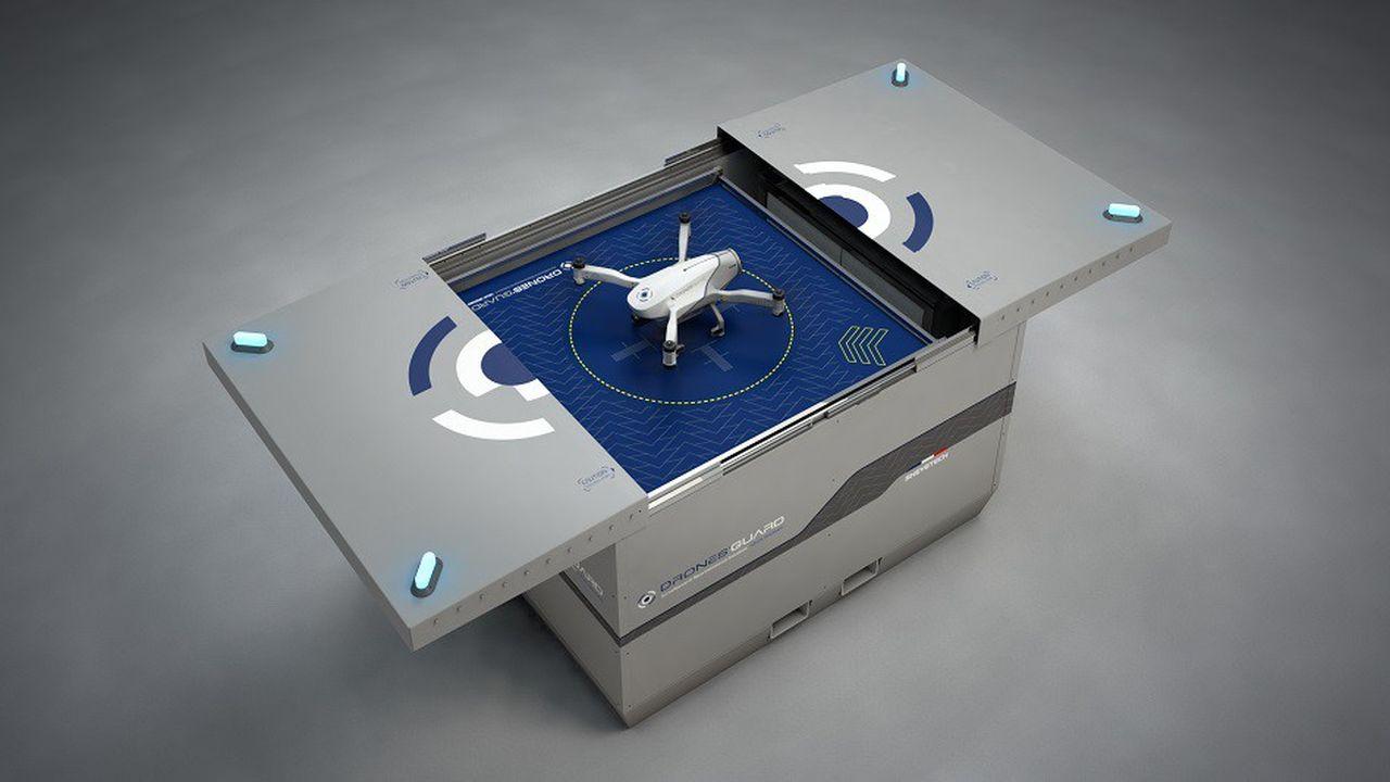 Le drone de vidéosurveillance Skeyetech d'Azur Drones pourra opérer de manière totalement automatisée.