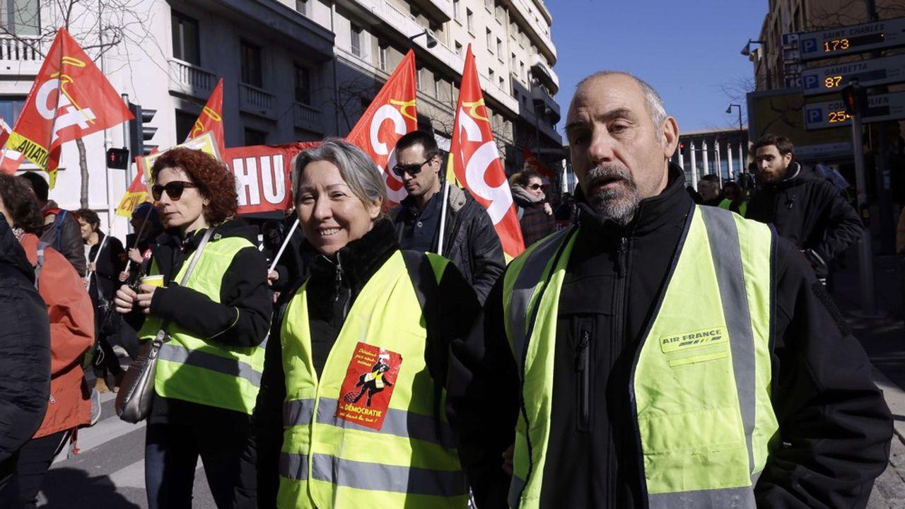 Lors de la manifestation, ce mardi, à Marseille.