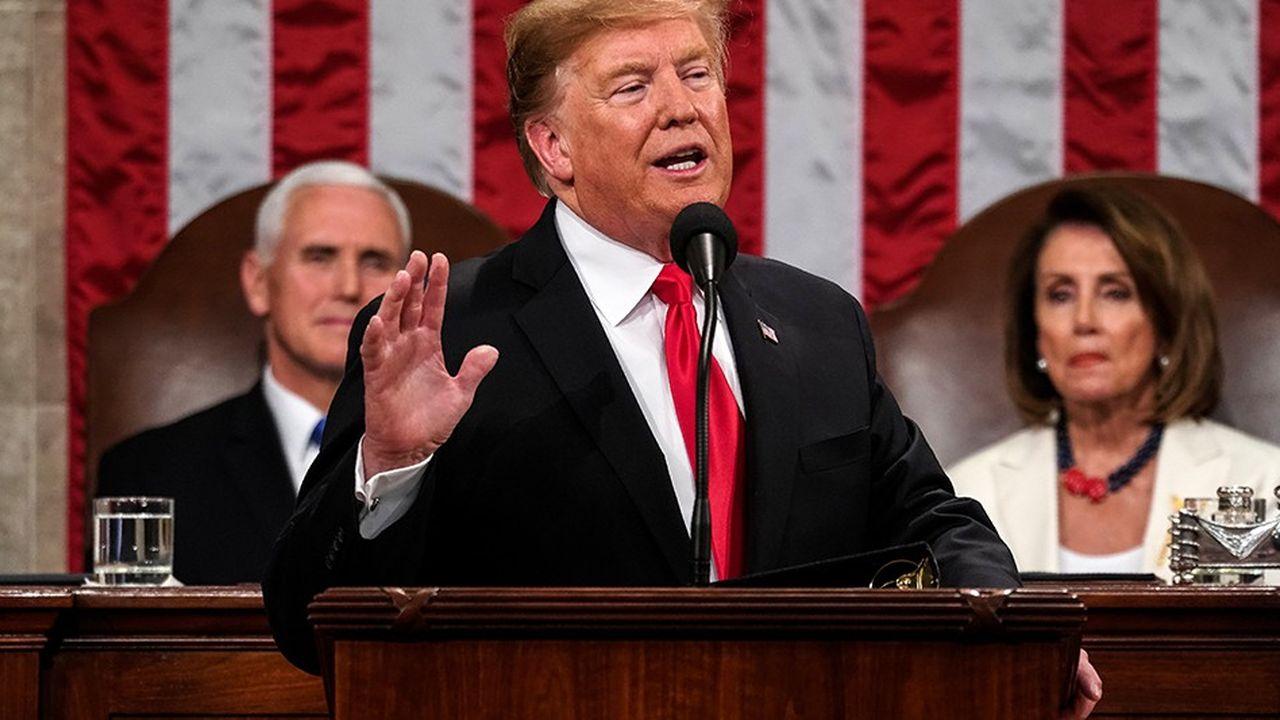 Le discours sur l'Etat de l'Union prononcé par Donald Trump devant le Congrès mardi soir a duré près d'une heure et demie.
