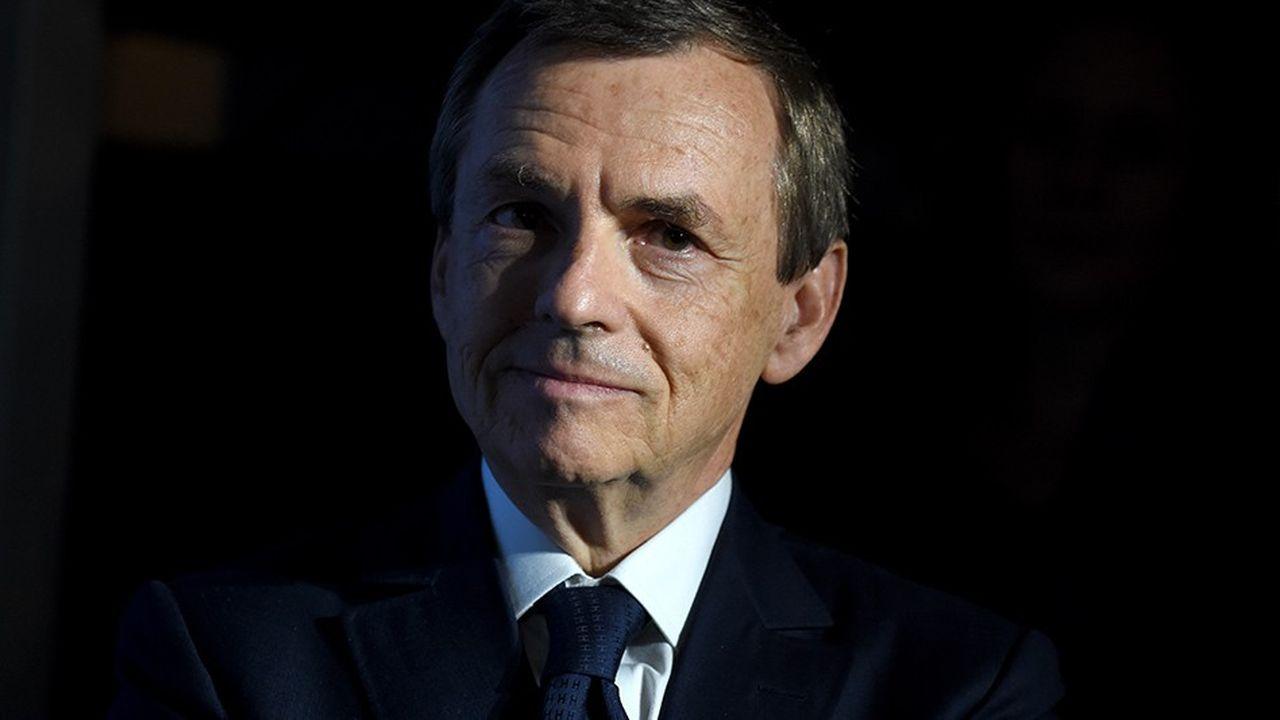 Alain Weill est un homme de médias, qui amonté notamment BFMTV. (Photo by ERIC PIERMONT/AFP)