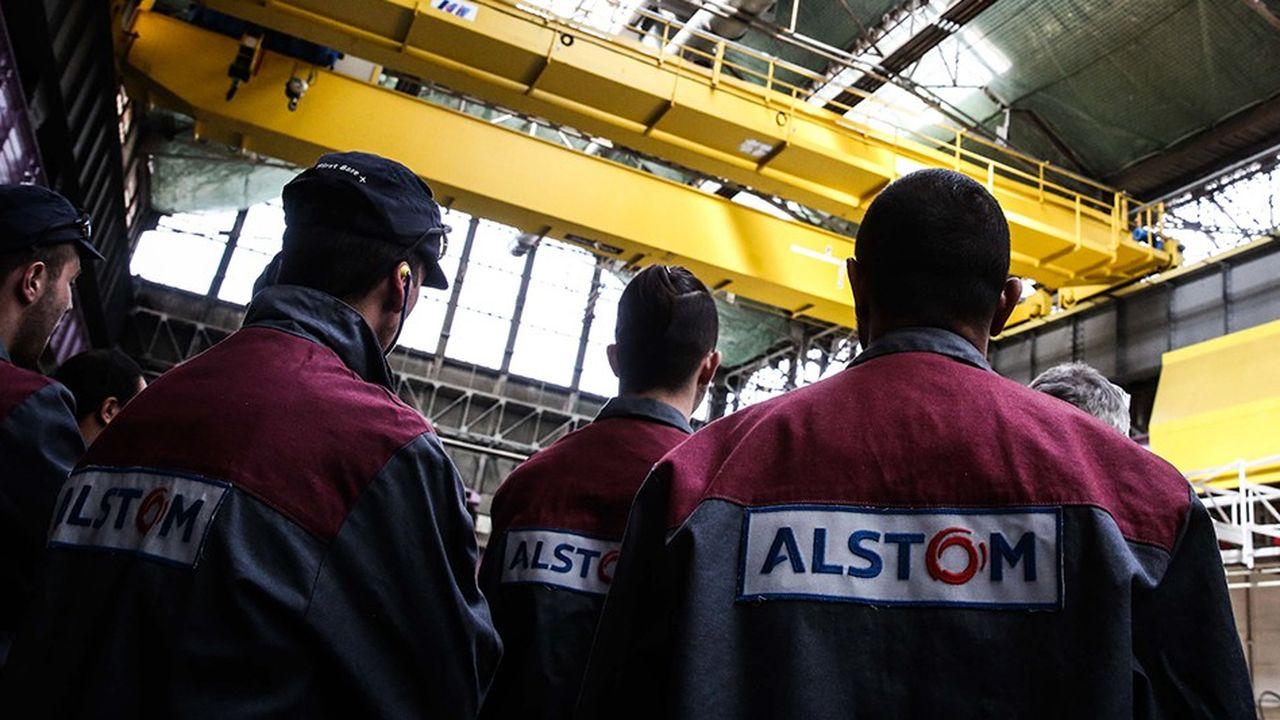 Salariés d'Alstom Transport. Aujourd'hui, la France n'a plus de doctrine industrielle ni forte ni claire, alors que l'Allemagne devient paradoxalement dirigiste « à la française » ,.