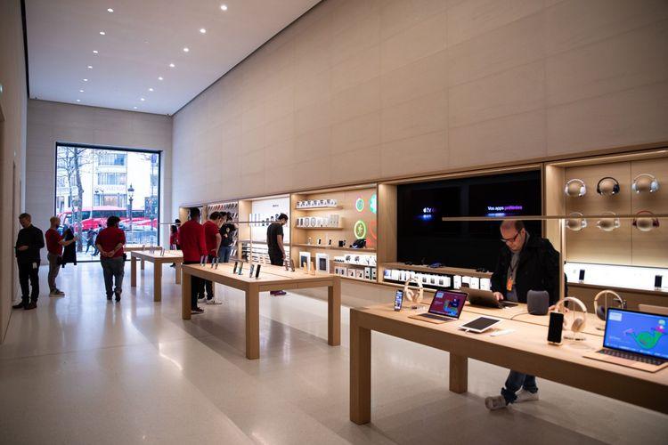 L'Apple Store des Champs-Elysées a ouvert à l'automne 2018.