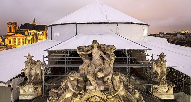 Le chantier de l'ancienne Bourse du commerce s'achèvera à l'automne. Le bâtiment accueillera une partie de la collection d'art contemporain de François Pinault.