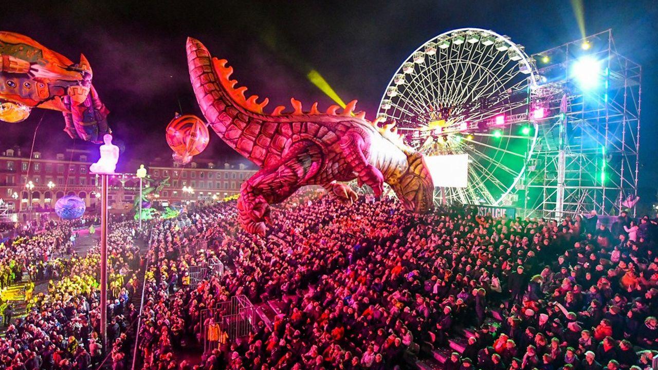 L'ouverture du 134e carnaval de Nice, le 17 février 2018.