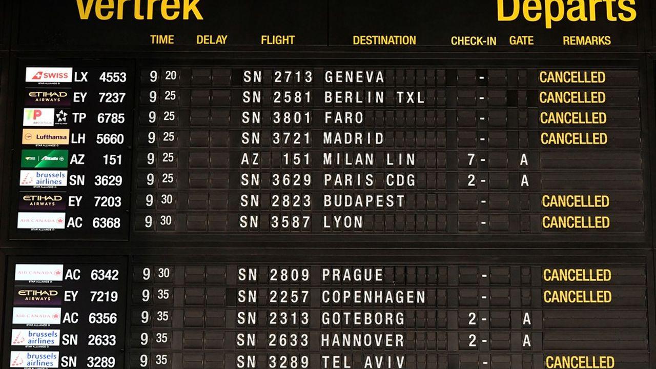 Les aéroports belges tourneront au ralenti ce mercredi.