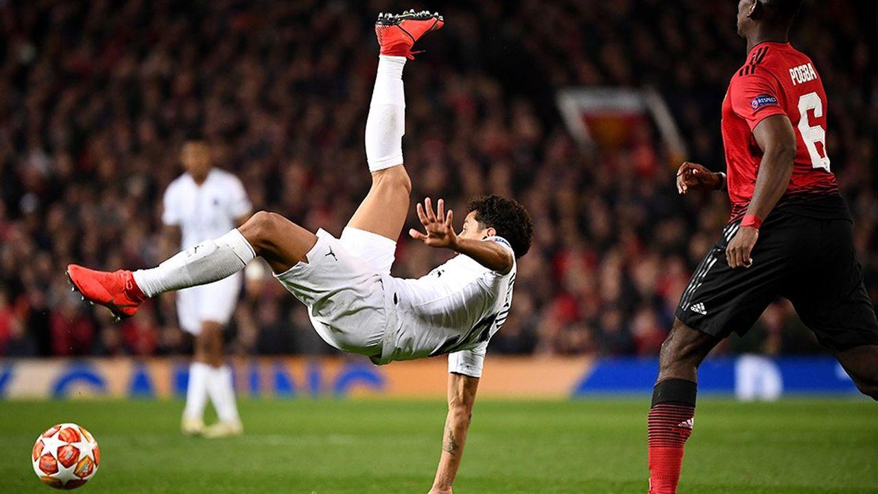 Le PSG a battu Manchester United lors du match aller des huitièmes de finale de la Ligue des champions.