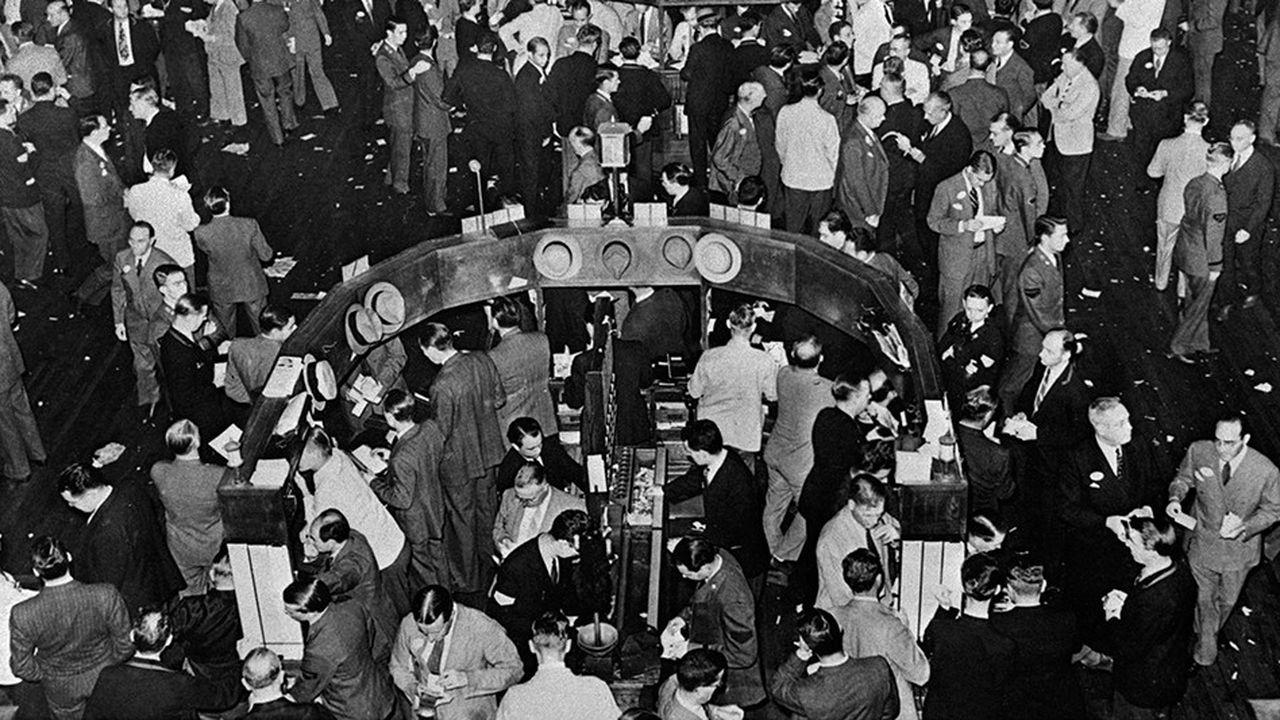 Le parquet du New York Stock Exchange, à la veille du krach de 1929