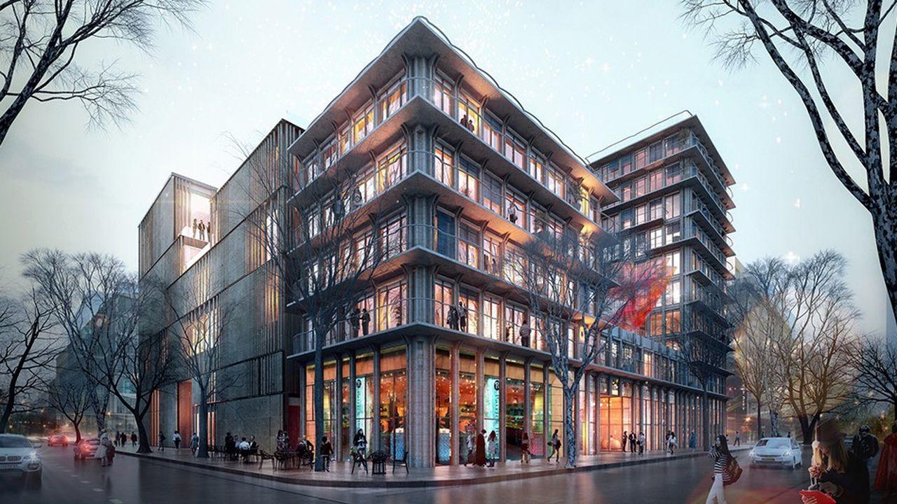 Oeuvre de l'architecte américaine renommée Jeanne Gang, ce nouvel édifice confortera la présence à Paris de l'université, implantée depuis 2003