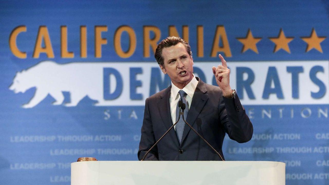 Pour la première fois en plus de cent ans, un démocrate a succédé en janvier2019 à un démocrate comme gouverneur de la Californie. Gavin Newsom a cependant douché cette semaine les espoirs d'une ligne de TGV reliant San Francisco à Los Angeles en raison de son coût élevé.