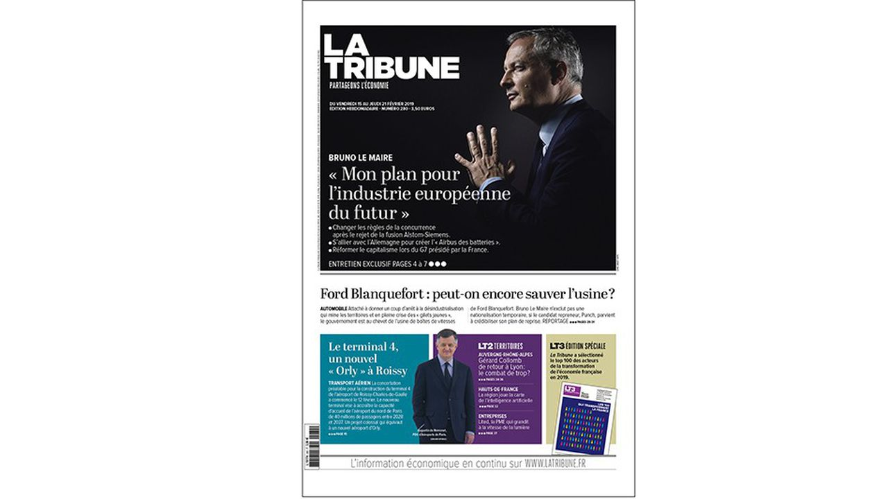 La nouvelle formule de «La Tribune» sort ce vendredi, avec une interview de BrunoLe Maire.