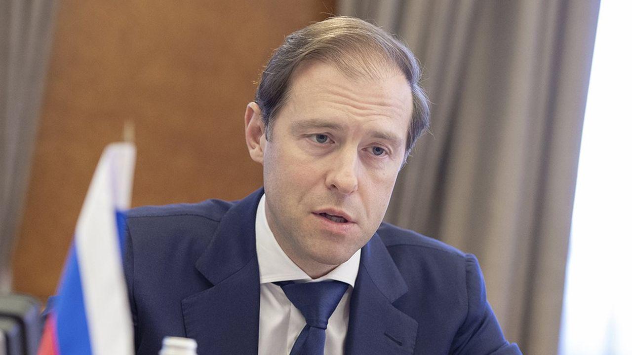 Le ministre de l'Industrie et du Commerce, Denis Mantourov, compte sur une hausse des exportations pour doper la croissance russe.