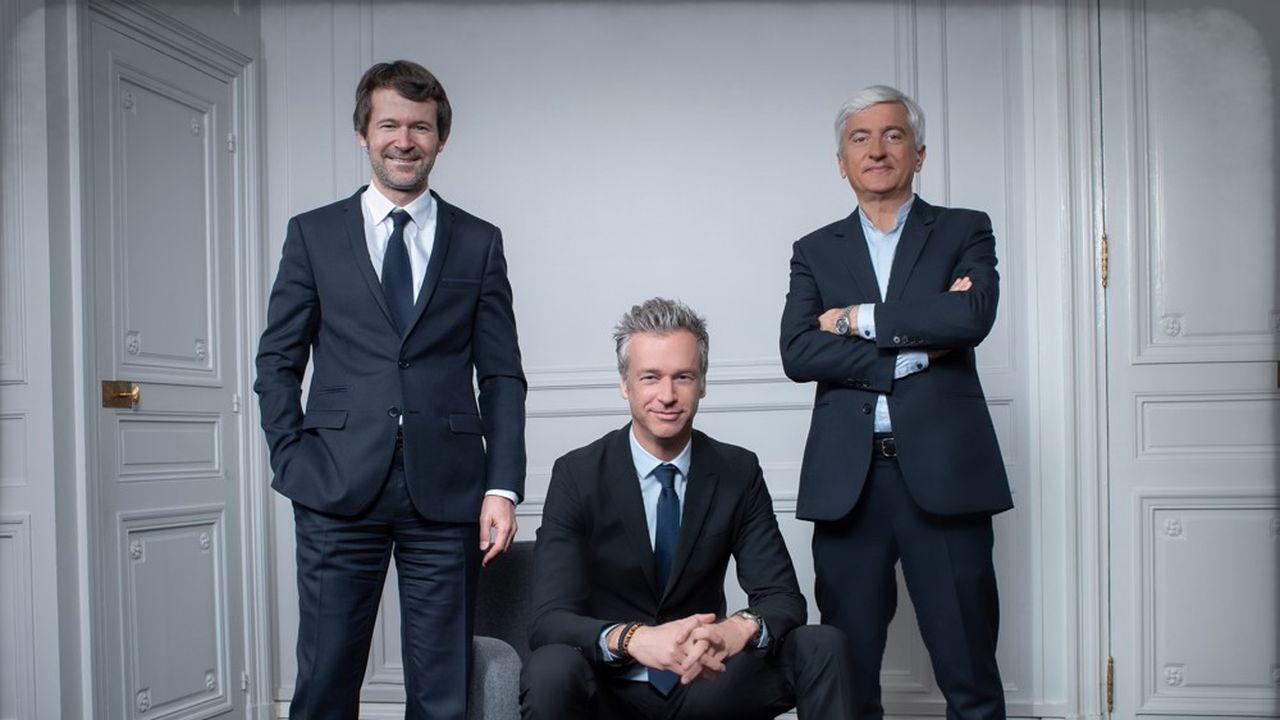 Présidé par Anthony Ravau (au centre), Heroiks sera également managé par Georges-Henri Bousquet, président de Business et Olivier Aubert, patron-fondateur d'Aubert Storch.