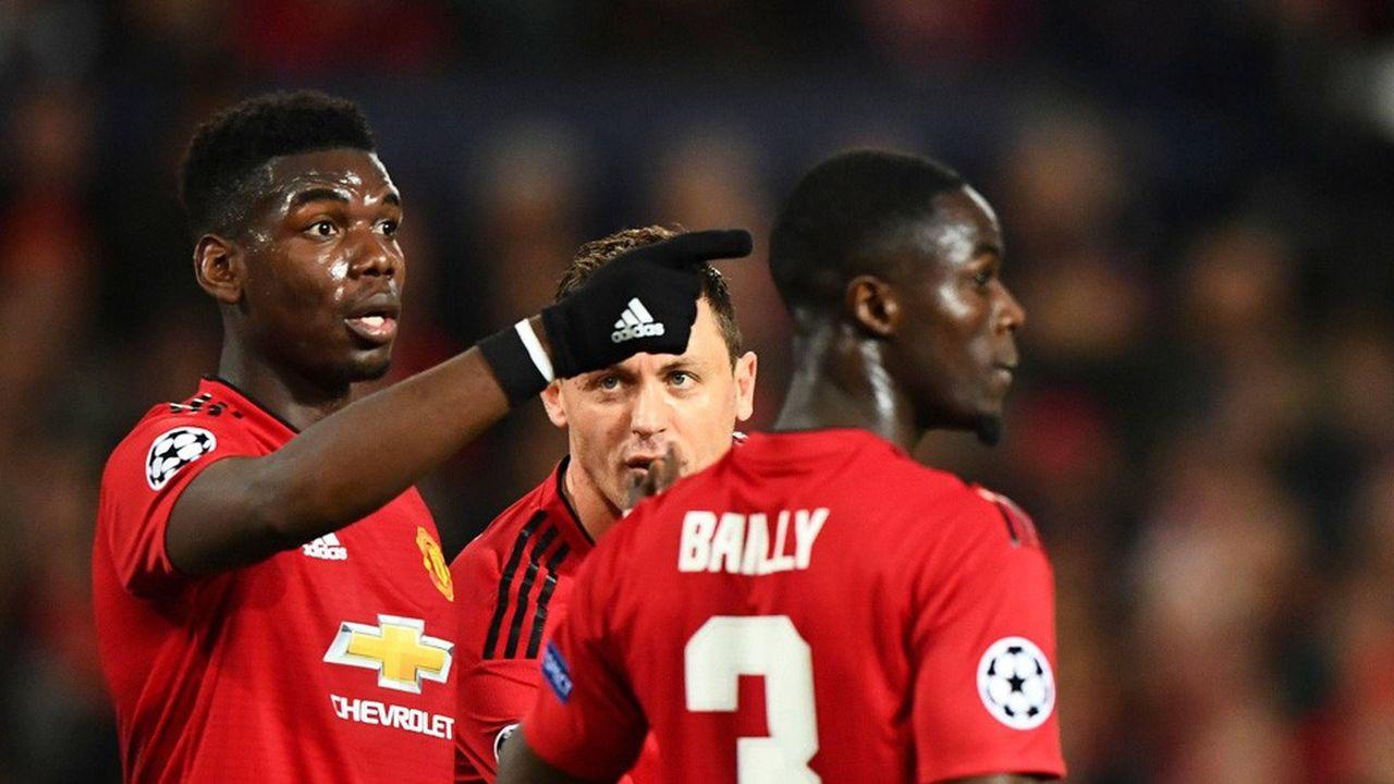 Le club de Manchester United lors de sa défaite contre le Paris Saint-Germain, le 12février dernier.