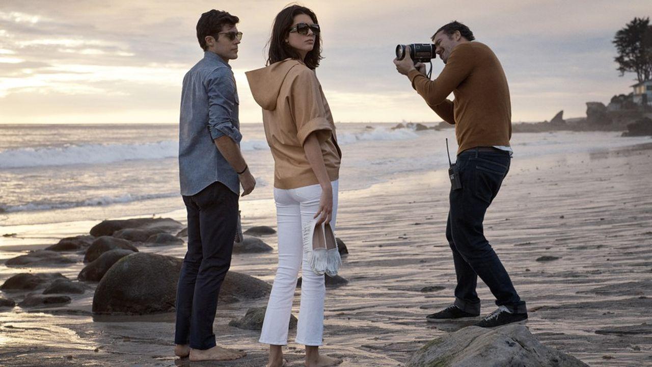 Le mannequin Kendall Jenner et le danseur Roberto Bolle sur le tournage de la campagne publicitaire printemps -été 2018 de Tod's.