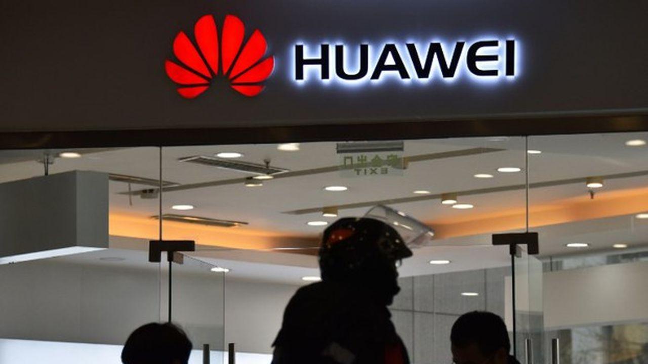 Un magasin Huawei à Pékin