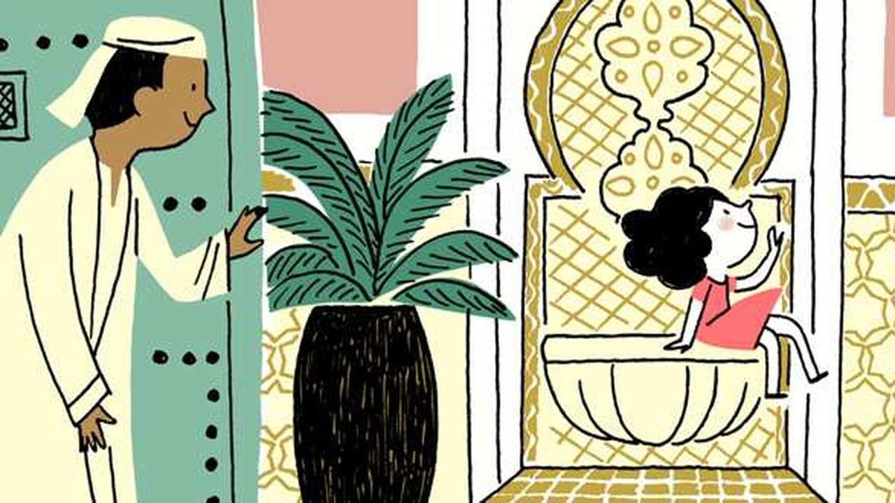 Illustration du livre Lila à la recherche du Mansour.
