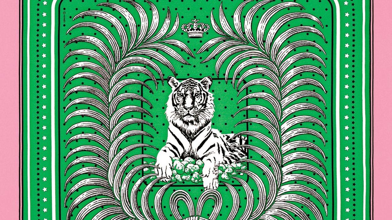 Bandana Tigre Royal Hermès.