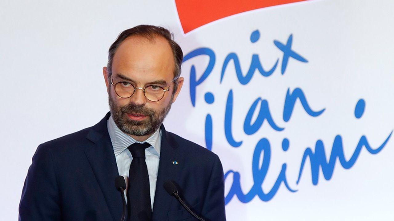Edouard Philippe lors de la remise du prix Ilan Halimi, le 12février dernier à l'Hôtel Matignon, à Paris.