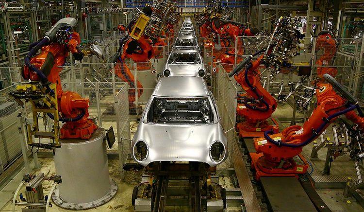 L'usine BMW d'Oxford produit les célèbres Mini