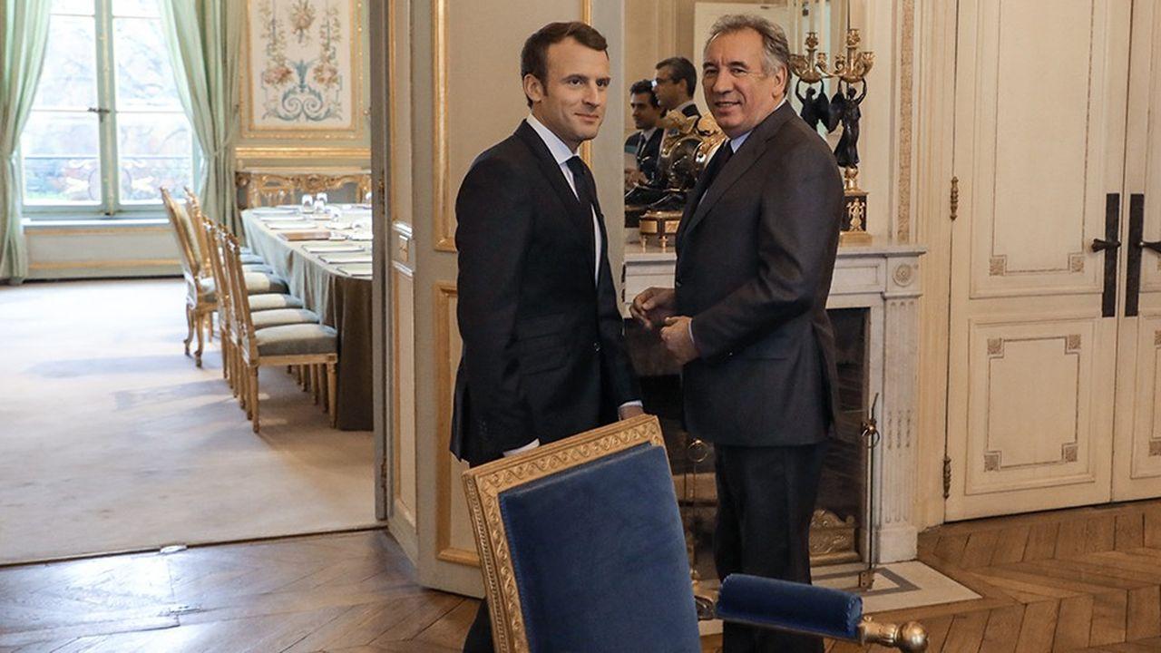 «Pour l'instant, nos instances n'ont pas présenté ou validé de candidatures», rappelle François Bayrou, le président du Modem (ici en 2017 avec Emmanuel Macron).