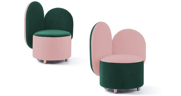 Maison Dada a complété sa collection d'accessoires déco par des assises en attendant l'arrivée en 2019, du premier canapé. Fil conducteur de la collection, les formes arrondies et la couleur.