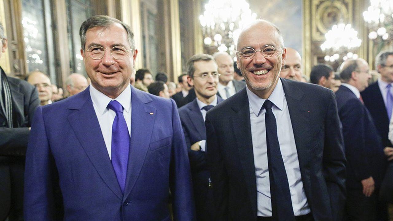 Martin Bouygues, PDG du Groupe Bouygues, et Stéphane Richard, PDG d'Orange