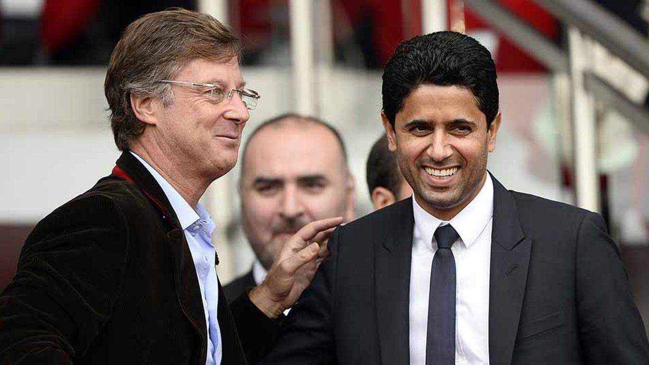 Le PDG d'Accor, Sébastien Bazin (à gauche sur la photo), et le président du PSG, Nasser Al-Khelaïfi (à droite), se connaissent de longue date. Le premier, alors patron Europe de Colony Capital, avait vendu le club parisien au second à l'été 2011. Et Sébastien Bazin reste un fan du PSG…