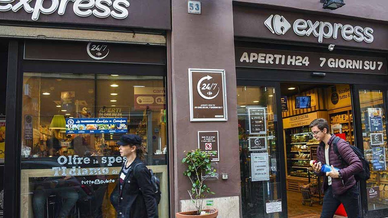 En Italie, 300 nouvelles ouvertures sont attendues d'ici à 2022 dans les formats Market et Express de Carrefour.
