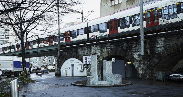 La gare de Zoug située au centre de la ville.