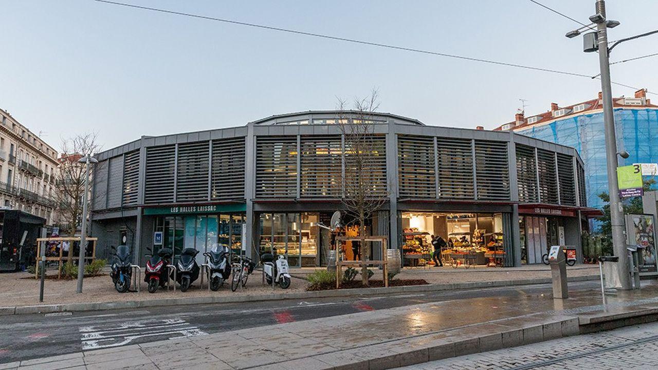 A Montpellier, inauguration des nouvelles halles Laissac, situées en coeur de ville.