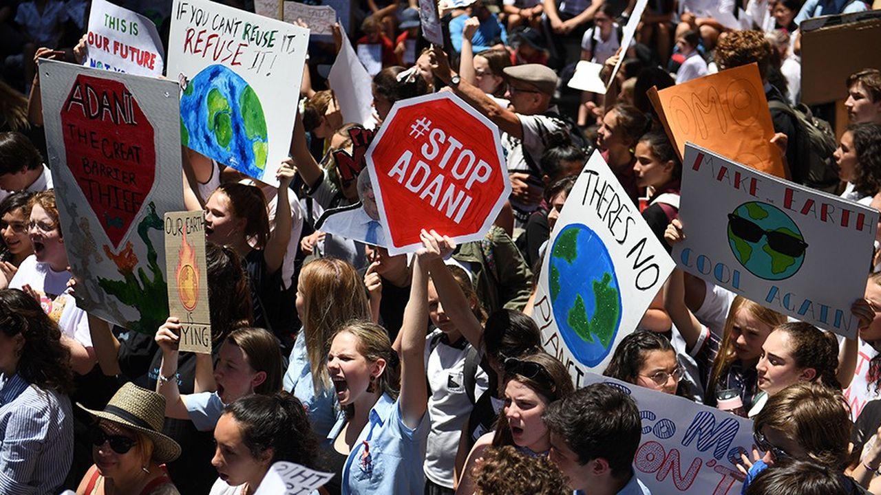 Les militants écologistes organisent régulièrement des manifestations comme ici en novembre2018 à Sydney.