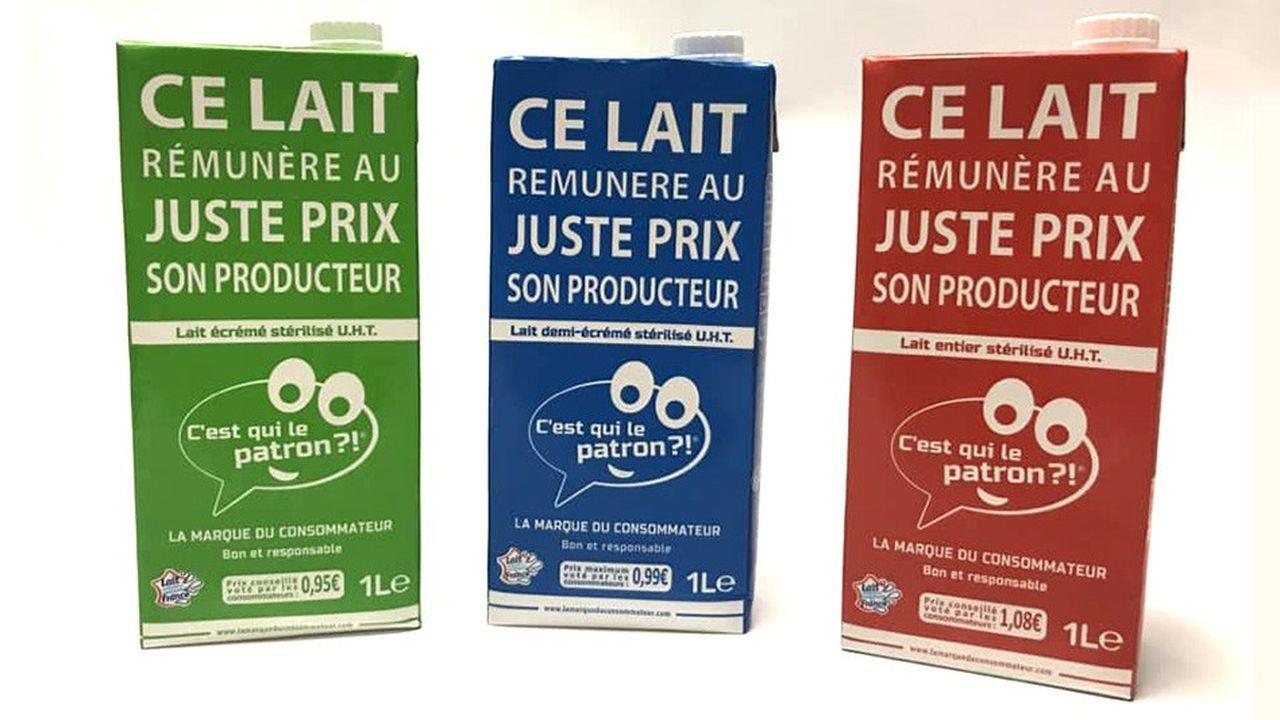 Ultrabasique le packaging de C'est qui le patron prouve aux consommateurs que l'argent sert vraiment à mieux rémunérer les agriculteurs, pas à payer de la pub et du conseil marketing.