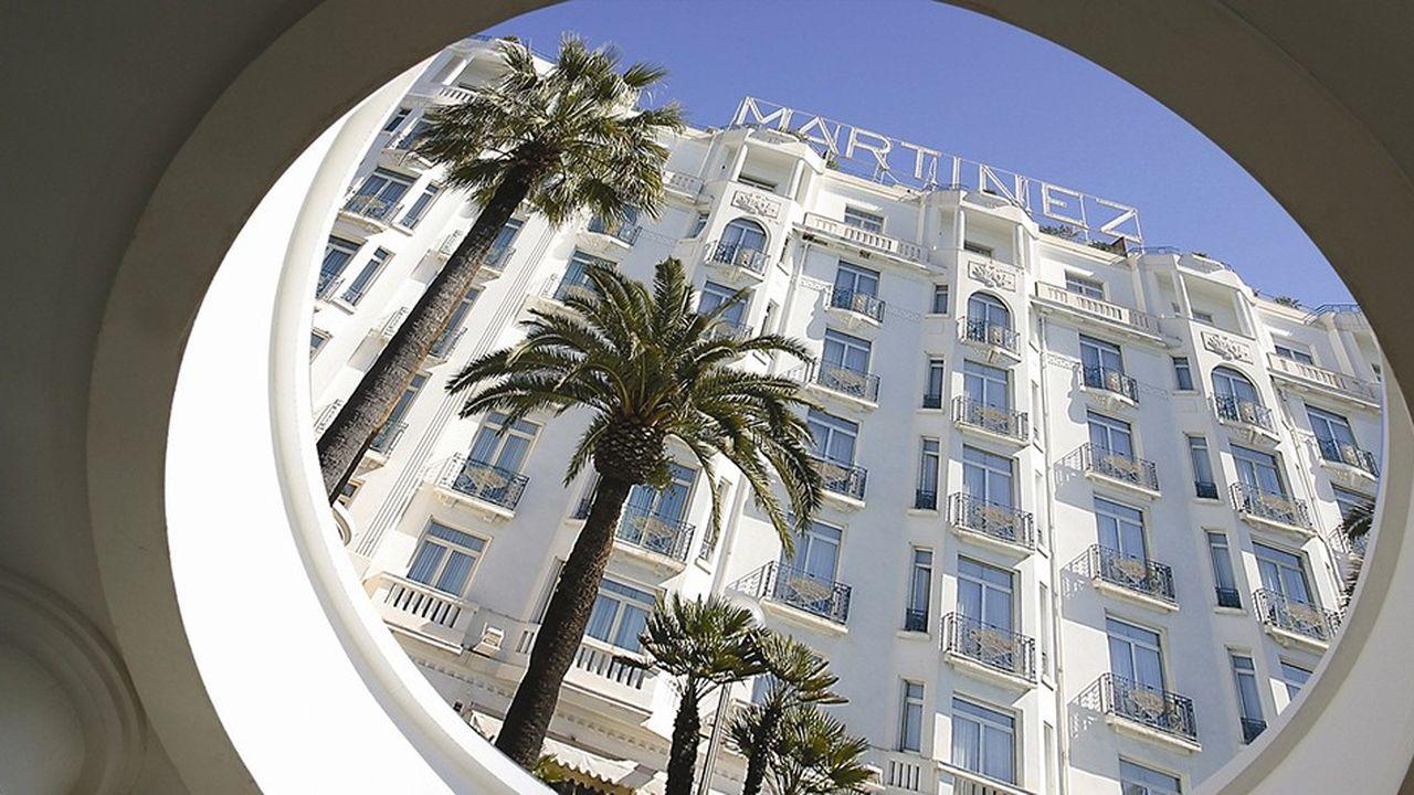 L'hôtel Martinez, à Cannes.