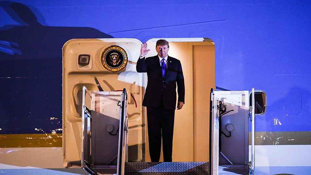 Donald Trump a menacé de mettre son veto au texte démocrate qui s'oppose à sa déclaration d'urgence nationale, si celui-ci était voté par les deux chambres du Congrès
