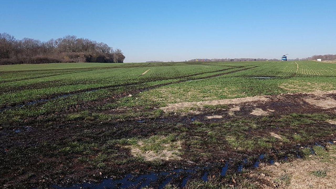 La rupture du pipeline de Total a pollué huit hectares sur la commune d'Autouillet (Yvelines).