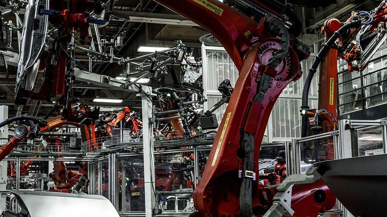 Une usine d'assemblage du constructeur automobile Tesla en Californie.
