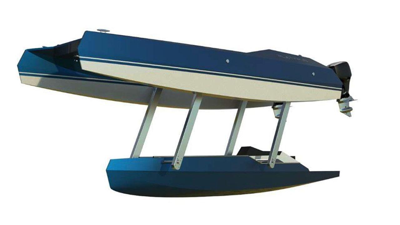 En aluminium, le trimaran Platypus Craft, qui mesure 7 mètres de long sur 2,5 mètres de large, peut embarquer 5 personnes, dont le pilote.