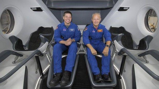 Les premiers astronautes de la Nasa à s'installer à bord de la capsule de SpaceX devraient être Bob Behnken (à gauche) et Doug Hurley.
