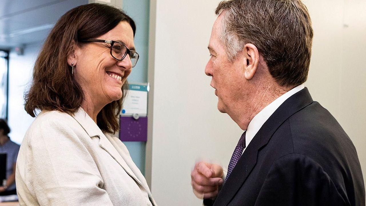 Cécilia Malmström, la commissaire européenne au Commerce, rencontrera mercredi sonhomologue américain, Robert Lighthizer, à Washington.