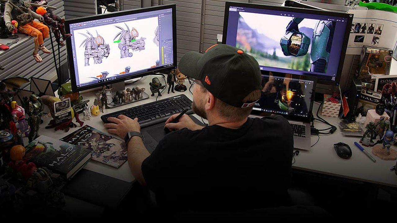 Chez 343Industries, un des développeurs de jeux vidéo de Microsoft.