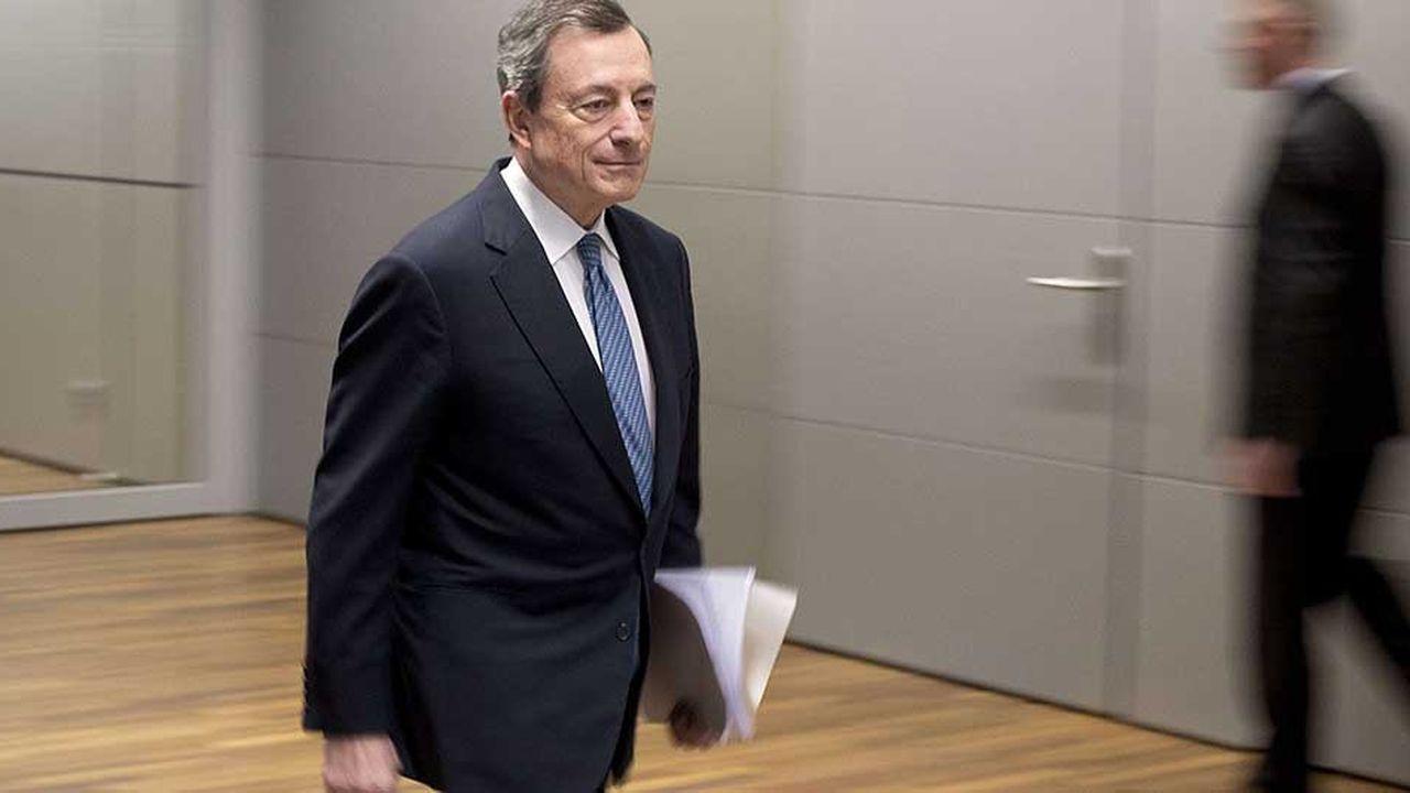 Le président de la Banque centrale européenne, Mario Draghi, avant sa conférence de presse du 13 décembre dernier