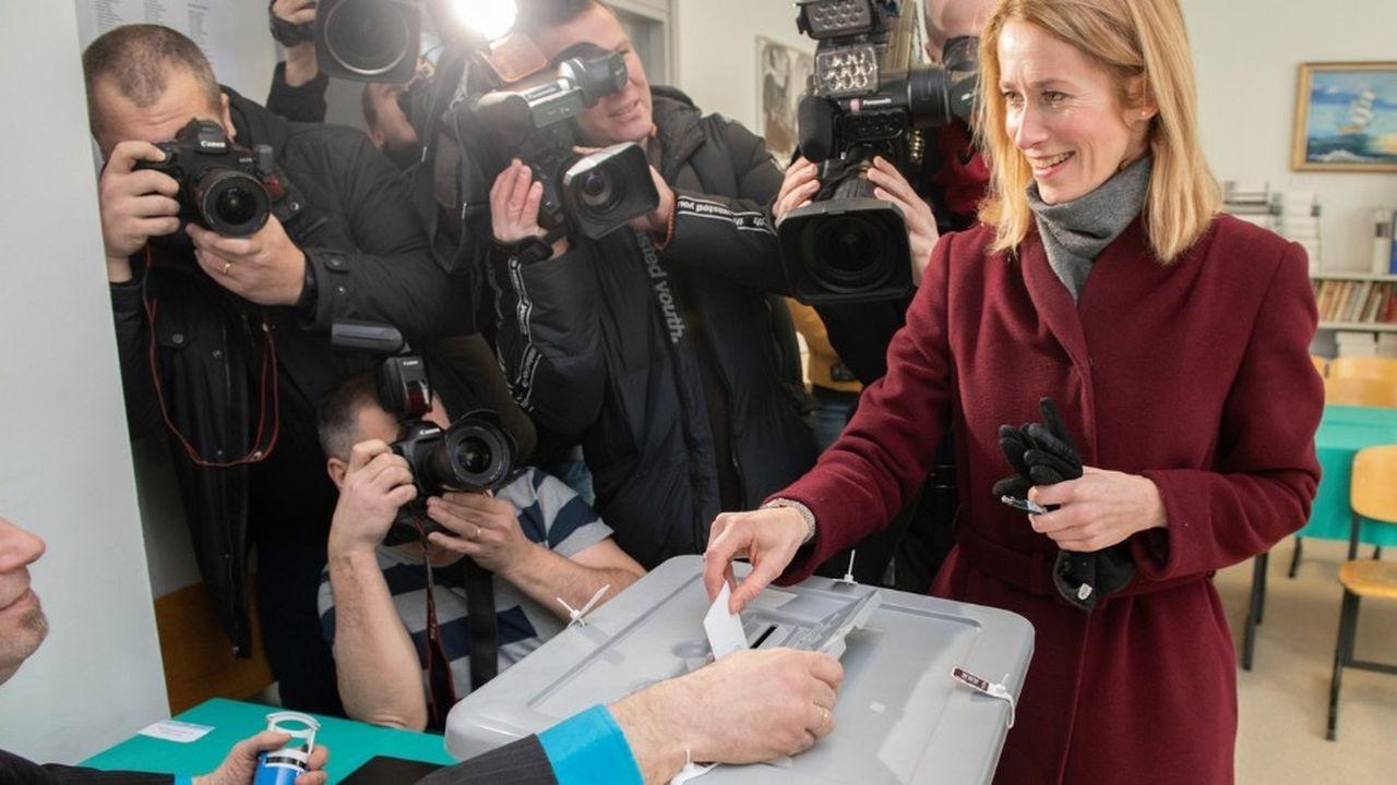 Kaja Kallas, patronne du parti libéral estonien, est la grande gagnante de l'élection