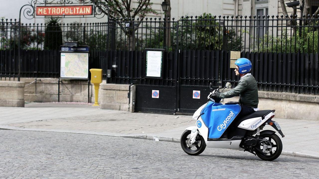 Cityscoot est présente à Paris, Nice et Milan